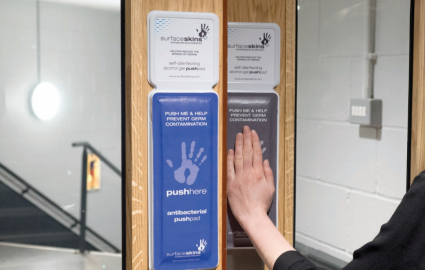 New textile keeps hospital door handles germ-free